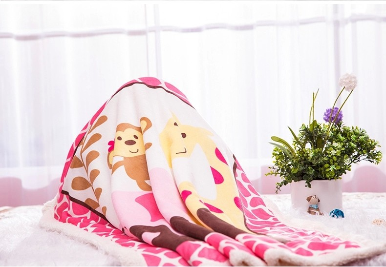 Hot Sale Warm Winter Fleece Baby Blanket Newborn Fleece Blanket Safari Sherpa Bedding Luvable Friends Baby Blanket & Swaddling-4