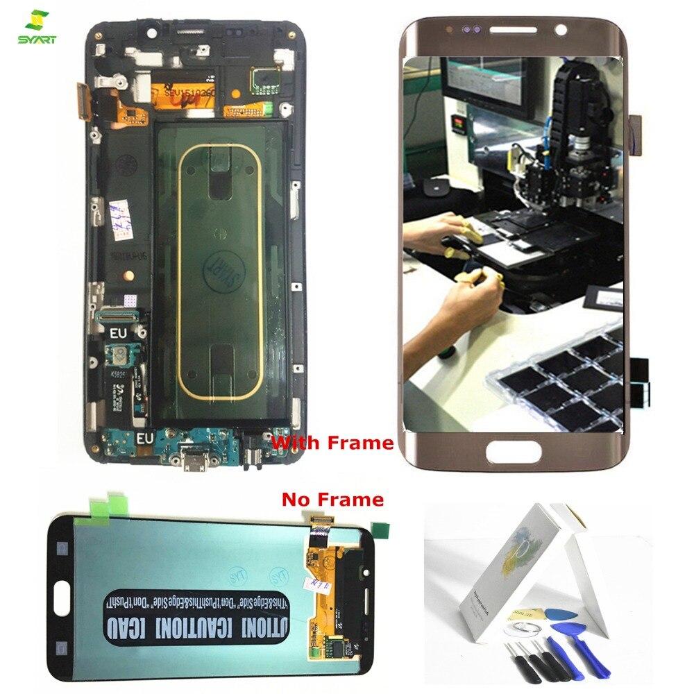 Borda Borda Além de Tela Para Samsung Galaxy S6 S6 Plus G928 G928F LCD Screen Display Toque Digitador Assembléia Completa 5.7