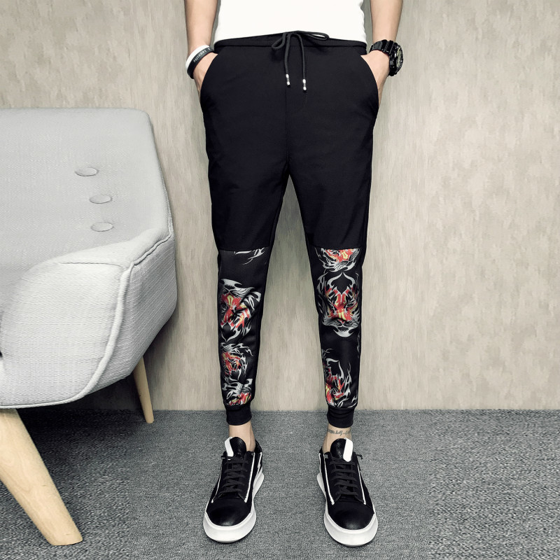 Sociology Spirit Guy 2018 Summer Man Nine Part Pants casual personality city boy fashion letter wild Favourite Free shipping