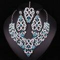 Новый Индийский стиль Кристалл Лоб hairband Серьги Ожерелья Белый Позолоченный Свадебный Комплект Ювелирных Изделий Женщины Свадебные Украшения