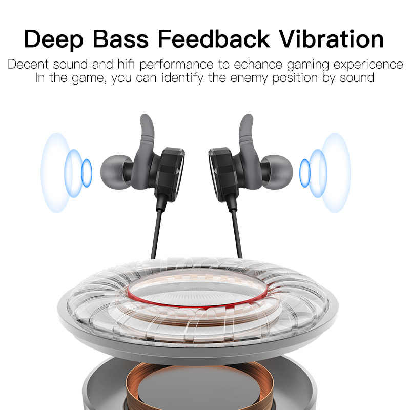 GGMM G1 Gaming Earphone Headset With Mic Deep Bass Gaming Earphones Mini PC  Gamer With Clear Volume Control For PUBG CSGO Games