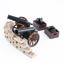 Military Army Roman Soldiers Medieval Cannon Weapons Model Parts Building Block toys MOC Accessories Assemble Brick