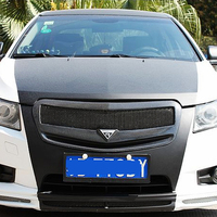 For Chevrolet Cruze Carbon Fiber Front Body Kit Auto Bumper Mesh Grill Grille 2009 2014