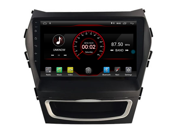 Elanmey top equipped 8 cores+4GB ram+64G rom android 8.1 car radio for Hyundai santa fe ix45 2013 2014 Gps navigation multimedia