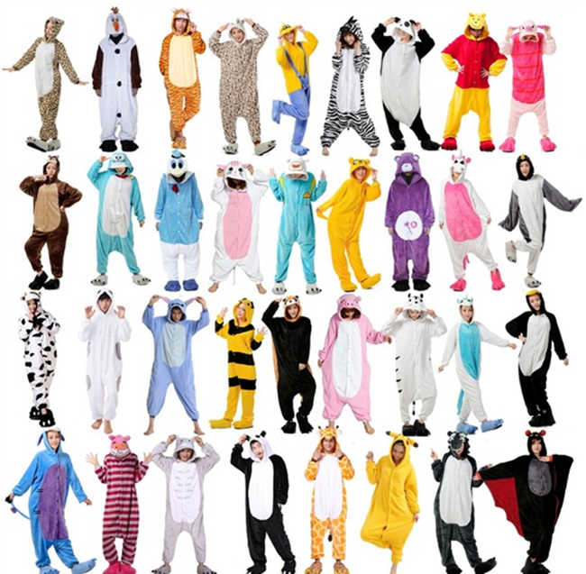 Retail Pika chu Stitch Kitty Unisex Flannel Hoodie Pajamas Costume Cosplay Animal  Onesies Sleepwear For Men fd0a99d1c