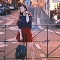 Осенью новый женская небольшой ароматный ветер свитер из двух частей юбка костюм мода tide-do929