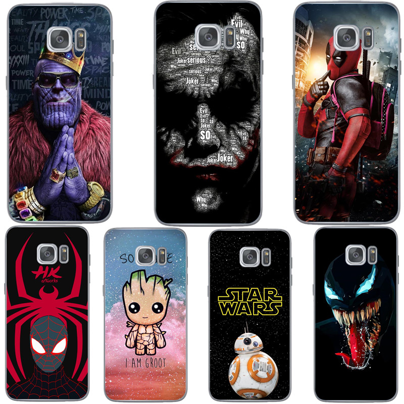 <font><b>Marvel</b></font> Avengers Heros Deadpool venom Soft <font><b>Phone</b></font> <font><b>Case</b></font> For Samsung Galaxy S6 S7 Edge S8 Plus S9 Plus S10 S10Lite S10+ A30 A50 A10 image