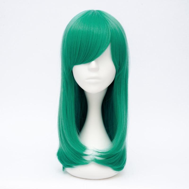 50cm Dark Mint Green Long Wavy Anime Women Cosplay Synthetic Wig