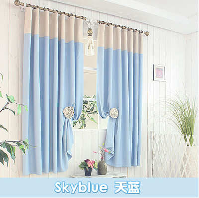 New 2016 Pure Color Short Curtain Finished Product Customization For Living Room Bedroom