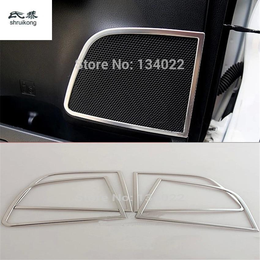 Для Toyota RAV4 ABS Гальванопокрытие хромом динамик с покрытием, стерео акустика, украшение из пайеток