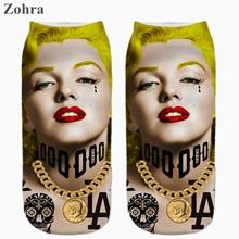 Marilyn Monroe Graphic 3D Full Print Women's Girls Low Cut Ankle Socks Multiple Colors Cotton sock Hosiery Sexy Women's Socks