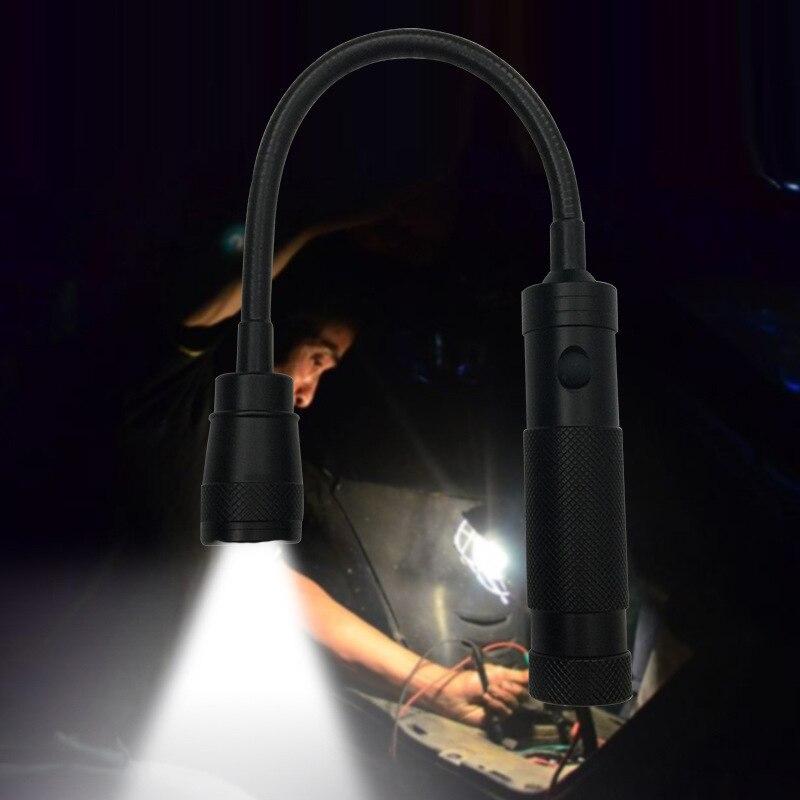 360 Graus Lanterna LED Flexível Cabeça Magnetizada T6 Telescópica LEVOU Lanterna Camping Lâmpada Luz Magnetic Pick Up Tool
