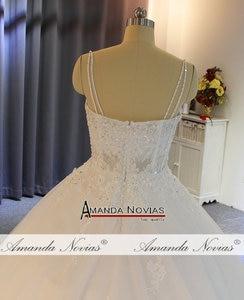 Image 5 - Vestido de noiva cinghie abito da sposa in pizzo con corpetto trasparente sexy del vestito da sposa