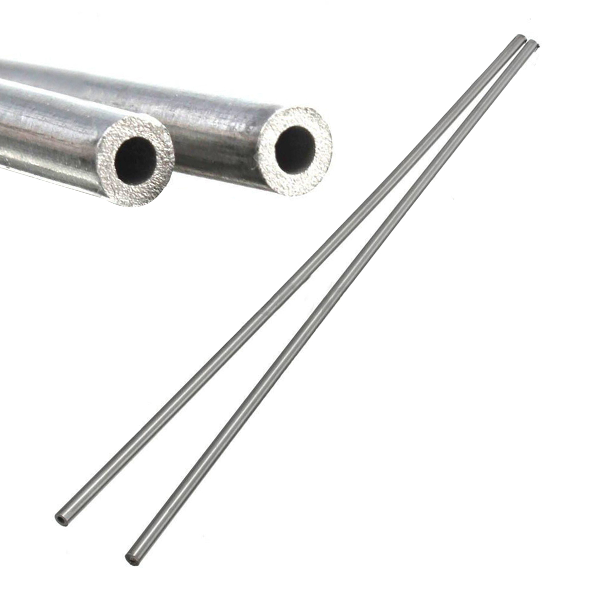 2pcs 304 Stainless Steel Capillary Tube Silver 4mm OD 3mm ID 250mm Length Use For Chemical Industry