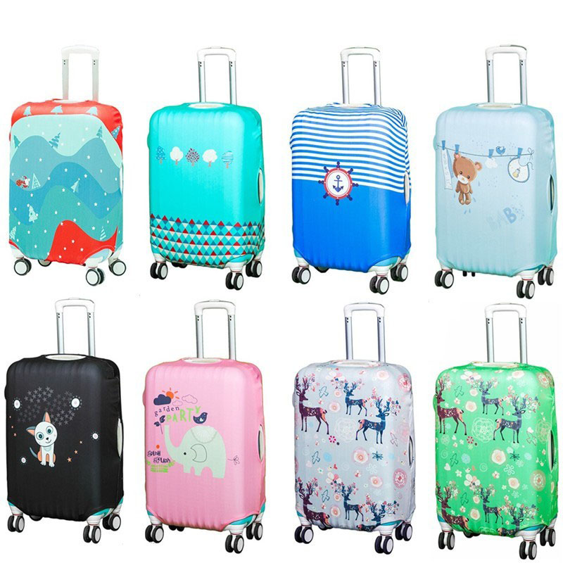 Fashion Travel Luggage Cover Luggage Protector Covers Suitcase Cover Trolley Case Travel Luggage Dust Cover For 20 To 29 Inch
