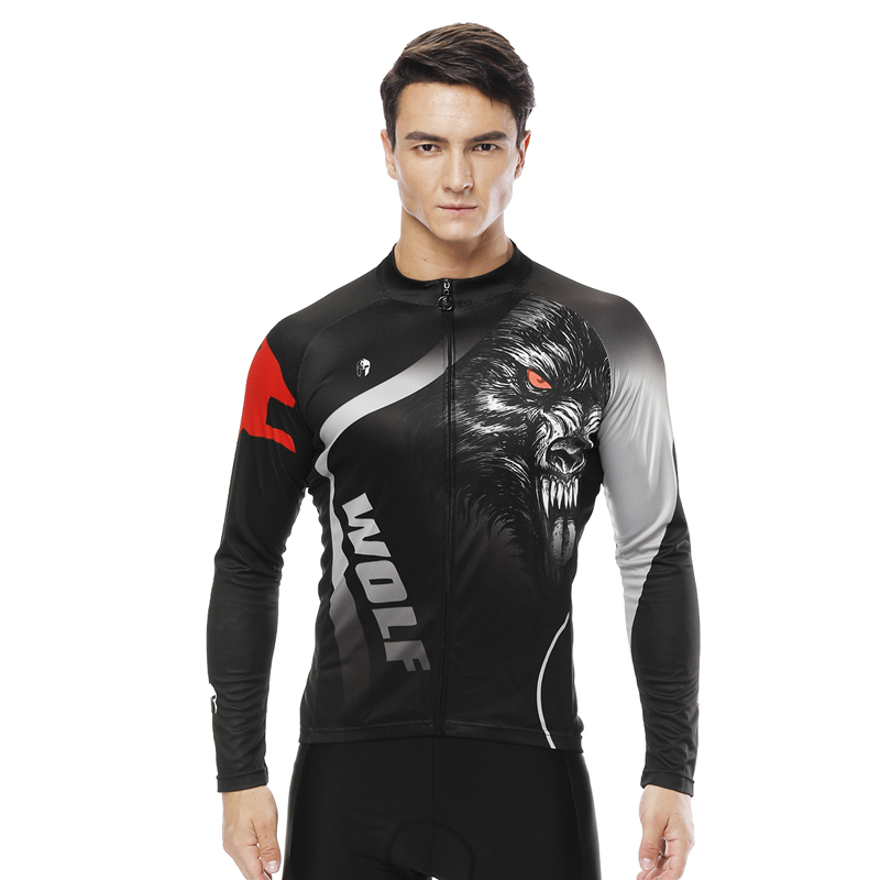 Long sleeve cycling jerseys 5D Padded MTB Bicycle Tight Bicicleta Mountain Bike Autumn Fleece clothes Maillot Hombre Team jersey