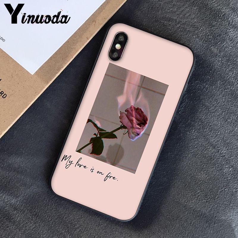 Yinuoda, розовый, эстетический, песни, лирика, эстетический, мягкий силиконовый чехол для телефона, чехол для iPhone 8, 7, 6, 6 S, 6 Plus, X, XS, MAX, 5, 5S, SE, XR, 10 - Цвет: A6