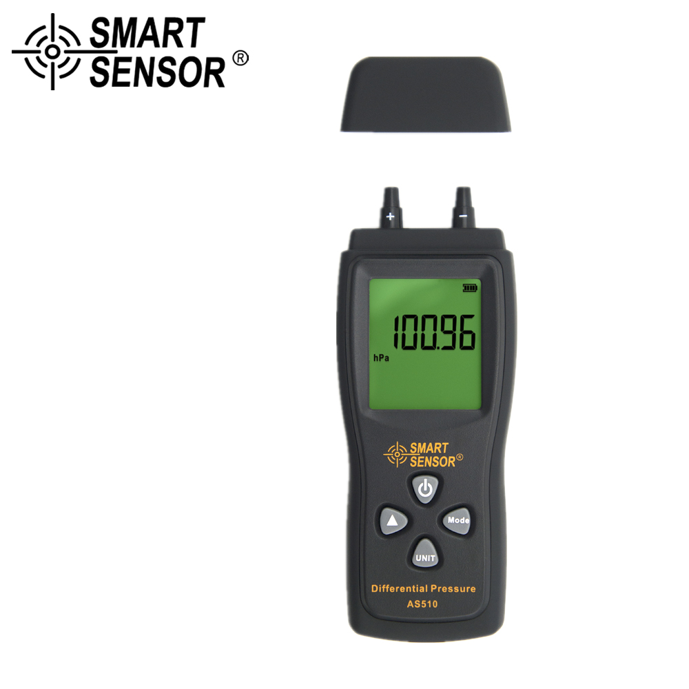 SMART SENSOR manometer manometro digital vacuum meter air pressure Differential Pressure Meter digital vacuum gauge 0-100 hPa mini dial air vacuum pressure gauge meter manometer with double scale