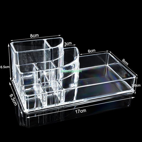 Clear Acrylic Desk Cosmetic Lipstick Holder Makeup