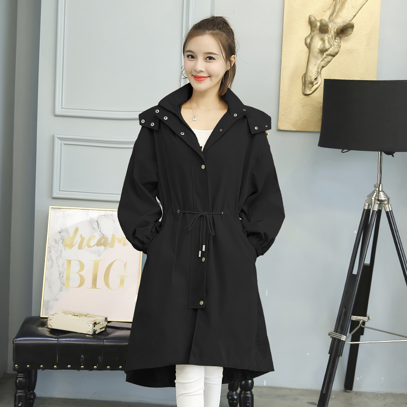 5b76a9f3aa 2018-New-Spring-Fashion-Women-Long-Trench-Coat -Loose-After-Short-Fatfore-Coats-White-Yellow-Black.jpg