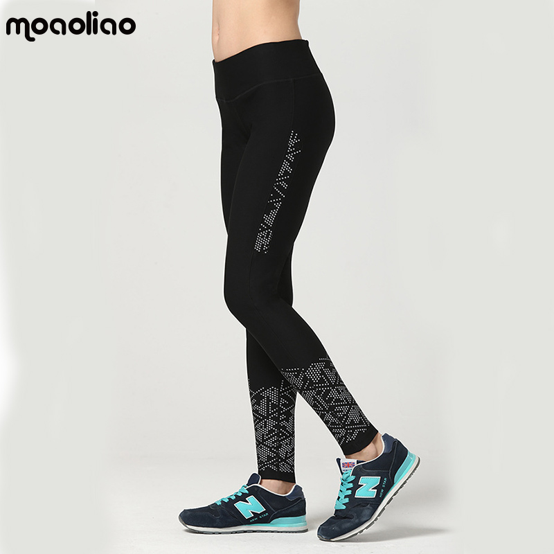 Reflective Running Jogging Pants Quick Drying Sports Pants Compression Tights Sexy Hips Push Up Leggings Yoga Pants