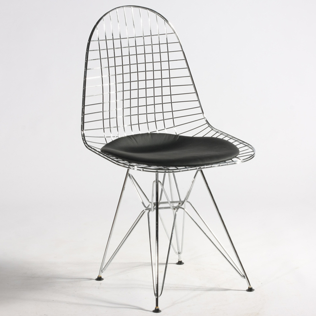 Chair Without Back Vitra Eames Lounge And Ottoman Huo Sen Rail Passenger Eiffel Metal Wire Chairs Cushion