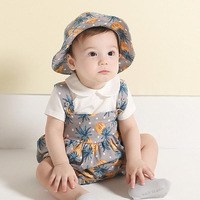 New Cute Cotton Baby Clothes Cotton Infant Boys Jumpsuit Baby Girl Romper Gray Pink
