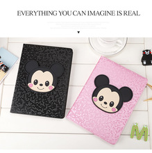 PU Leather Flip Case cover For Apple air 1 air2 Cases Smart Stand Cover For Cartoon anime Tablets cases ipad 5 6 pro2017/2018