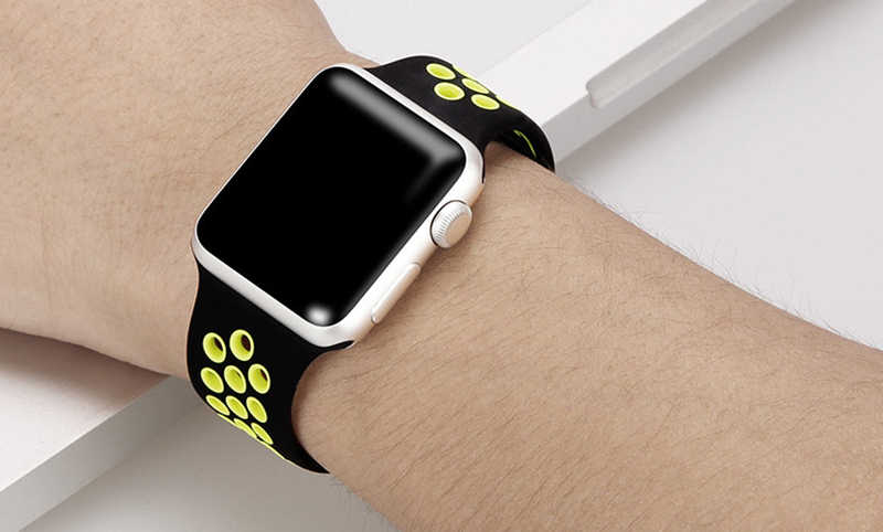 wholesale online great quality good out x Sport band for Apple Watch Nike+ Series 4 Bracelet 40mm 44mm Wrist Strap  Link belt for iwatch series 3/2/1 38mm 42mm watchband