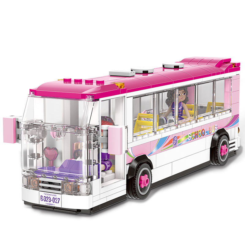 XINGBAO 12005 City Girl Series The School Bus Set Building Blocks Bricks Educational Funny Toys Model For Kids Gifts kaygoo building blocks aircraft airplane ship bus tank police city military carrier 8 in 1 model kids toys best kids xmas gifts