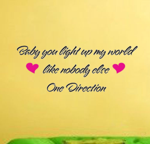 One Direction Popular Singers Song Lyric Baby You Light Up My World