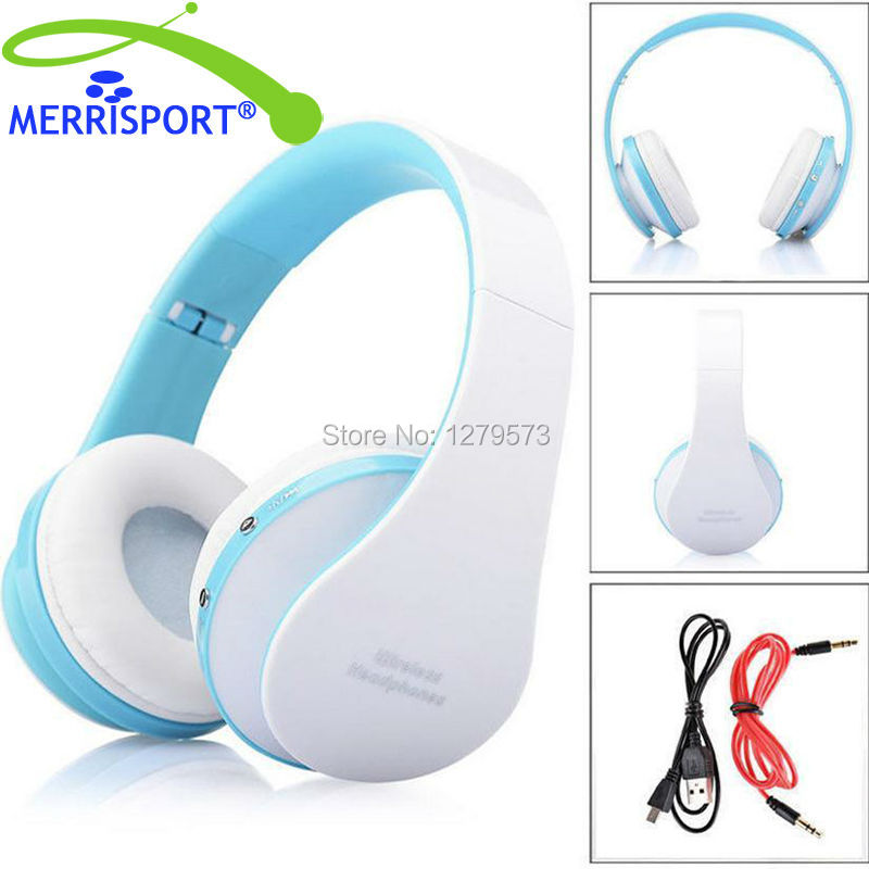 MERRISPORT Bluetooth Headphones Over Ear, Hi-Fi Stereo Wireless Foldable Headsets With Mic for Iphone Samsung Smartphone Tablet