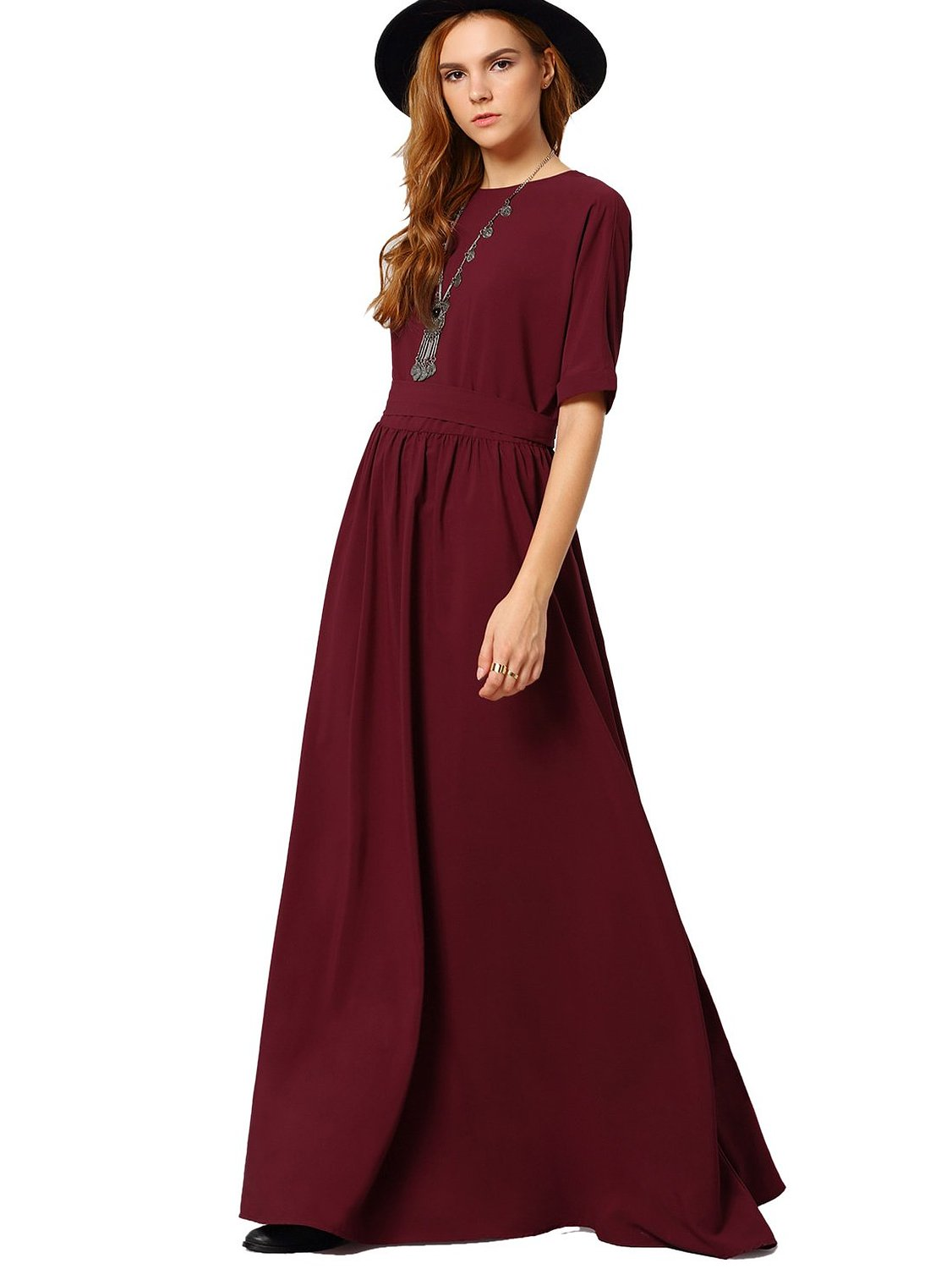 Casual dresses with sleeves and midway length dress