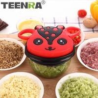 TEENRA 1Pcs Multifunction Vegetable Chopper Cutter Meat Grinder Manual Vegetable Grinder And Shredders Fruit Slicer Kitchen Tool