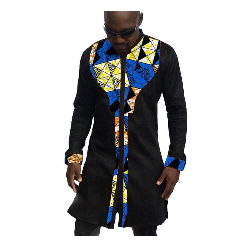 African Print Mens Shirts Fashion Man Dress Shirt Male