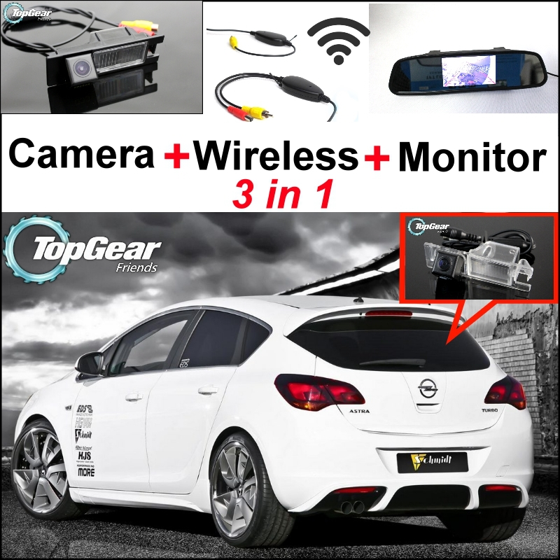 3 in1 Special WiFi Rear View Camera + Wireless Receiver + Mirror Monitor EASY DIY Backup Parking System For Opel Astra 2004-2013 3 in1 special rear view camera wireless receiver mirror monitor back up parking system for honda jazz 5d 2002 2013