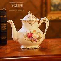 Yolife Chinese Ceramic tea pot Set Lovely Porcelain large capacity teapot for Wedding Gift