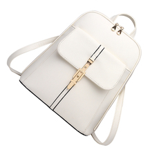 Горячие Fashionwomen рюкзак школьные сумки студенты плечо сумка женская женские сумки кожаный пакет Белый
