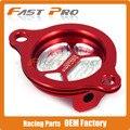 CNC Billet Filtro De Aceite Tapa Para para CRF250R CRF 250R 10-16 Motocross Enduro Bici de La Suciedad