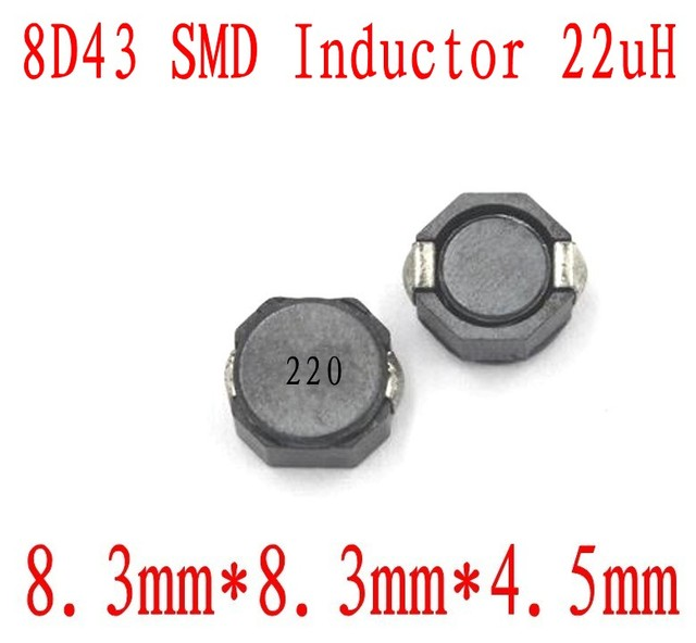US $110 39 8% OFF|NEW SMD Inductors 8D43 22UH Chip inductor 8*8*4 5mm CDRH  8D43 22 uh Shielding Power inductance 500 PCS-in Inductors from Home