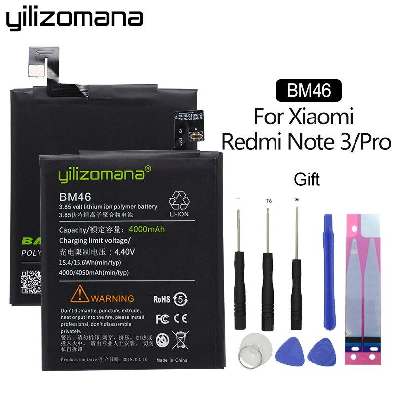 Yilizomana For Xiaomi Bm46 Battery For Xiaomi Redmi Note 3