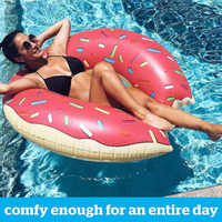 Inflatable Colorful Swimming Ring Safe Pool Float Summer Outdoor Activitives Beach Party Eco-friendly Cute Kids Swimming Circle