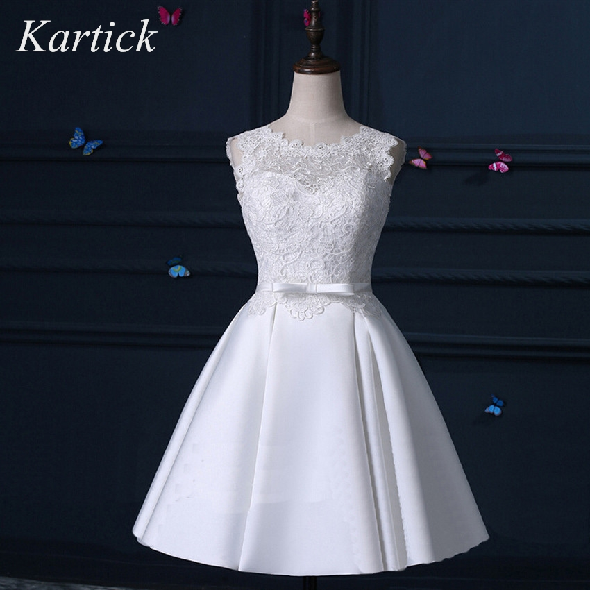 New Real Bridesmaid Dresses Elegant A-Line Backless Girls Women Gown Short Lace Satin Ball Prom Party Graduation Formal Dress