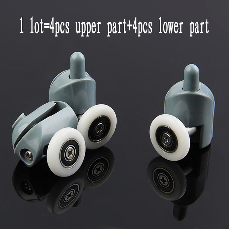8pcs/lot Shower Rooms Cabins Pulley Shower Room Roller /Runners/Wheels/Pulleys Diameter20mm/22mm/23mm/25mm/27mm. 8 shower rooms cabins pulley