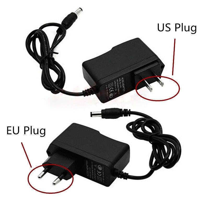 New 1 PCS  Power Supply AC 100-240V To DC 12V 1A Adapter Plug US EU For LED Strip Light