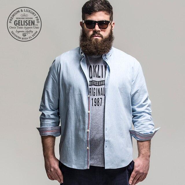 7325c537c1b Gelisen Brand Men s Shirts Business Code Of Linen   Cotton Blended  Comfortable Long Sleeve Shirt
