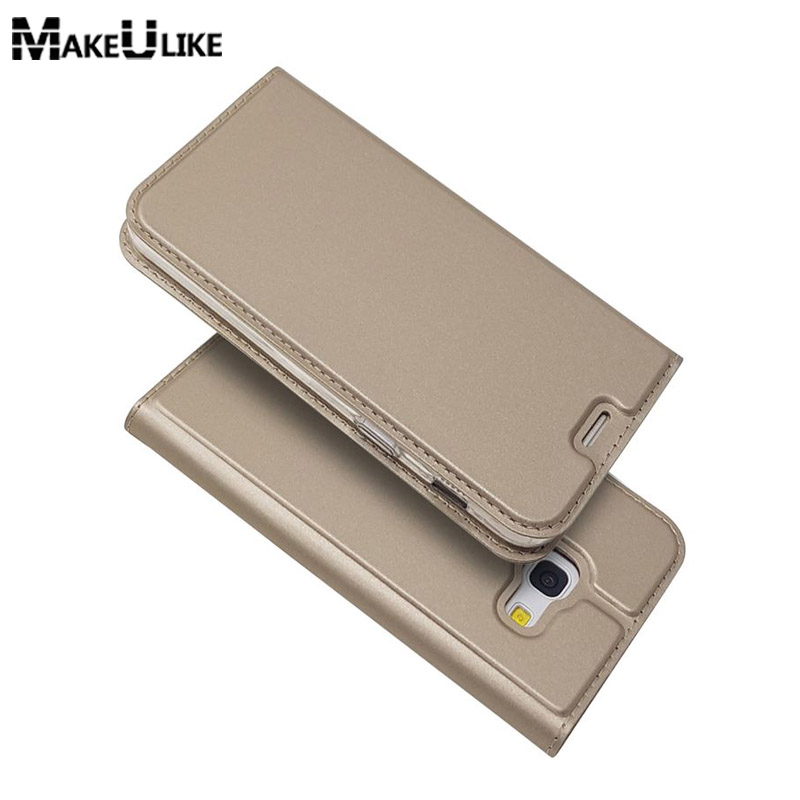 MAKEULIKE Leather Case For Samsung Galaxy A3 A5 A7 2017 Thin Protective Cover Magnetic Coque For Samsung A5 A7 2018 Flip Case