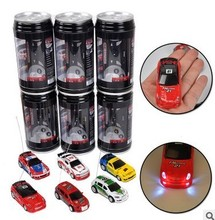 Hot Sale 8 Style Coke Can 1/63 mini drift RC led light Radio Remote Control Micro Racing Car Kid's desktop Toys Gifts