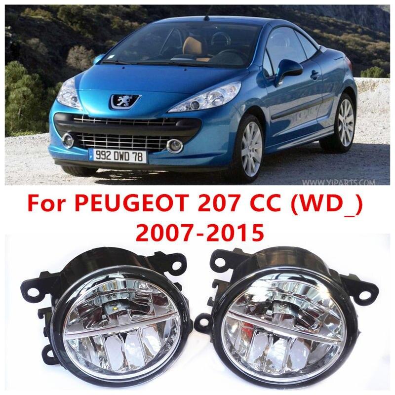 ФОТО For PEUGEOT 207 CC (WD_) 2007-2015 Fog Lamps LED Car Styling 10W Yellow White 2016 new lights