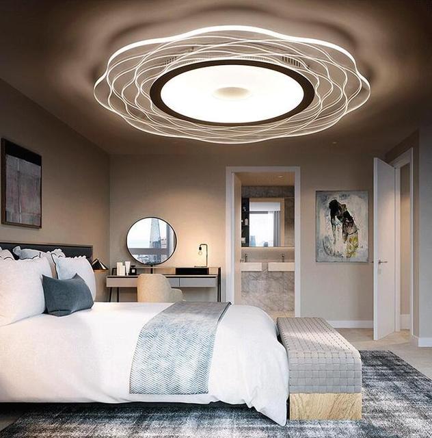 € 144.17 |Ultra belles fleurs led chambre plafonnier circulaire moderne  simple salon lampe lumière chambre plafonnier ZA FG111 dans Plafonniers de  ...